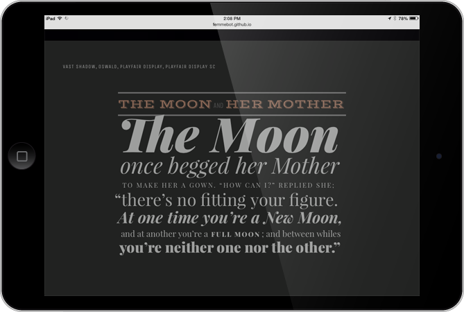 Google Fonts Typography
